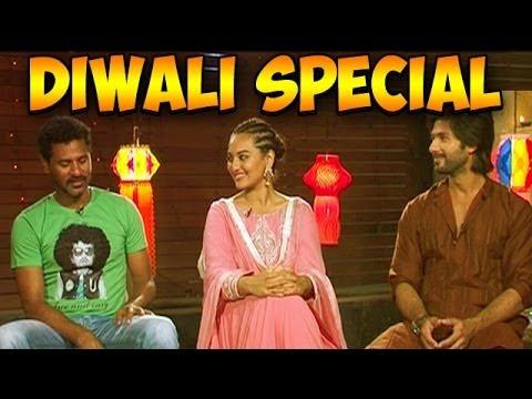 R Rajkumar - Shahid Kapoor, Sonakshi Sinha & Prabhudheva talk about Diwali 2013, Bollywood & more
