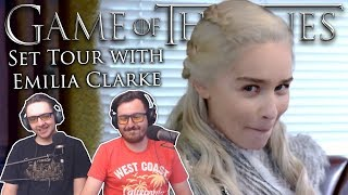 tour the game of thrones set with emilia clarke daenerys targaryen reaction