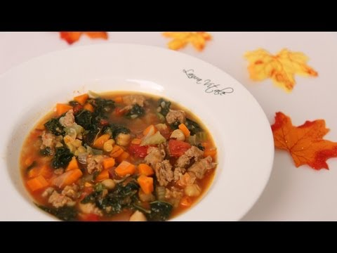 Sausage & Kale Soup Recipe - Laura Vitale - Laura In The Kitchen Episode 457
