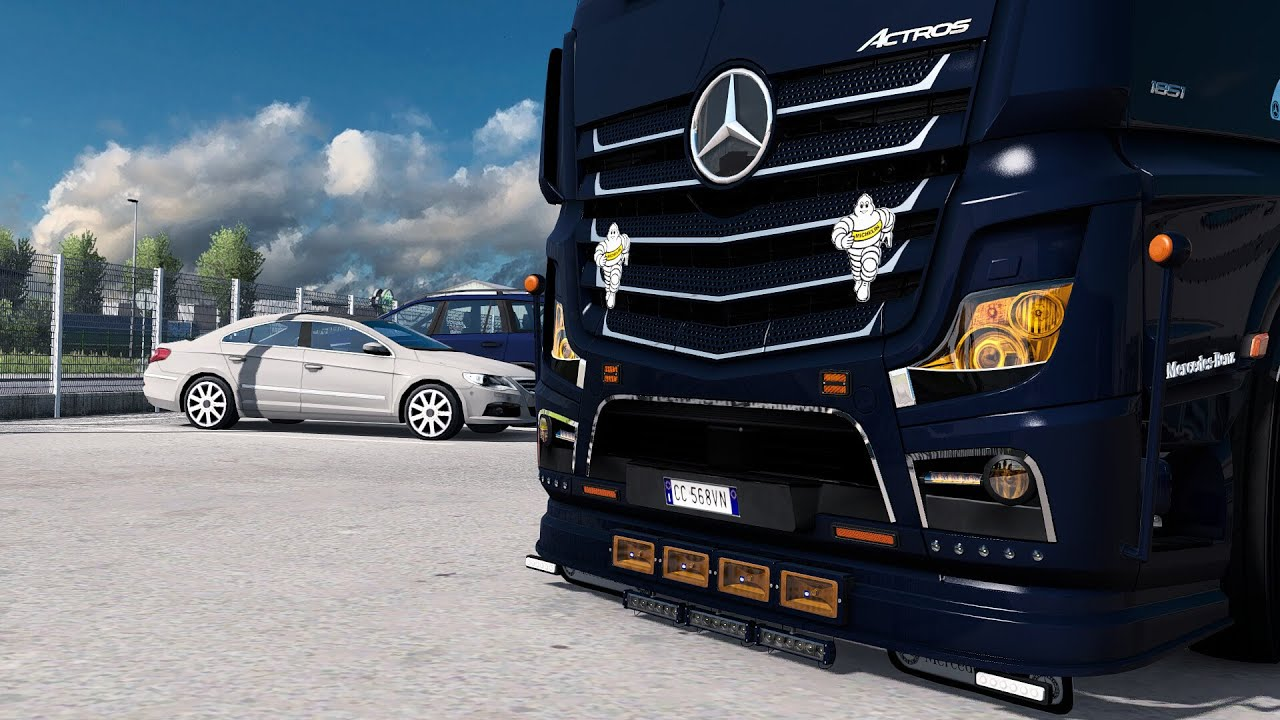 [ETS2 - ADDON]Mercedes-Benz New Actros GigaSpace Bottom Tuning Pack UPDATE 2.0