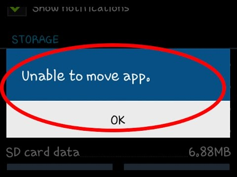 How to fix Unable to move app Error in android