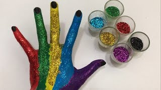 Learn Colors with body paint for Kids | Educational video for children