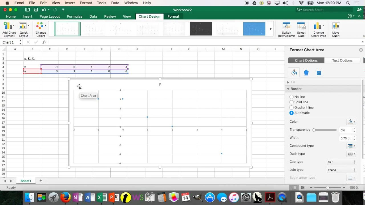 how to show a linear regression plot on exell
