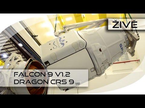 ŽIVĚ: Falcon 9 v1.2 (Dragon CRS-9)