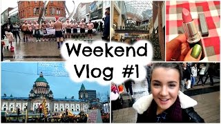 Weekend Vlog #1 - Shopping In Belfast & Shirtless Rugby Singers!? | Sara Belleza