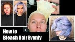 How to Bleach Hair Evenly