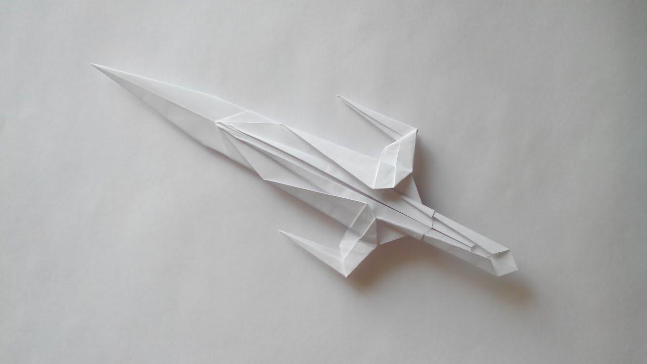 меч из бумаги из майнкрафта схема