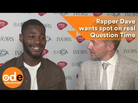 Rapper Dave wants spot on real Question Time panel!