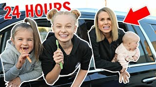 24 HOUR OVERNIGHT in CAR CHALLENGE with BABY in USA! 👶⏰