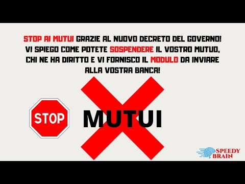 COME SOSPENDERE IL TUO MUTUO CASA STEP BY STEP TUTORIAL! STOP ALLA CRISI! LINK PER SCARICARE MODULO! from YouTube · Duration:  16 minutes 29 seconds