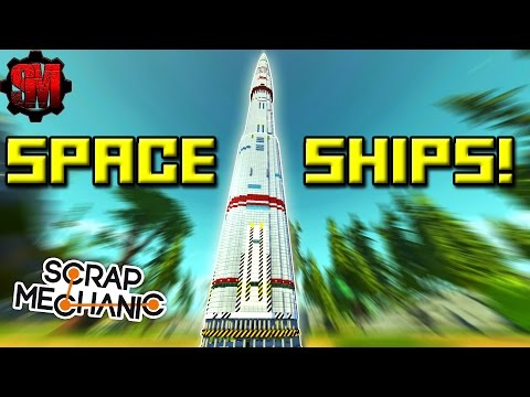 TALLEST SPACESHIP?! [Workshop Hunters 7] - Scrap Mechanic Multiplayer Ep42