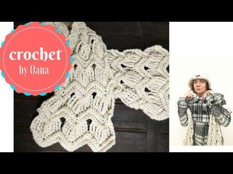 Crochet Ripple Scarf By Oana Youtube