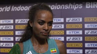 Genzebe Dibaba  Won Gold In 1500 Metres
