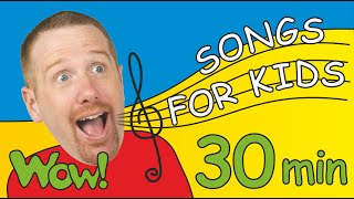 Songs for Kids from Steve and Maggie + More | 30 Minutes of Fun for Children
