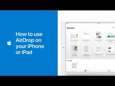 How to use AirDrop on your iPhone or iPad iOS 12 & lower 2018\2019