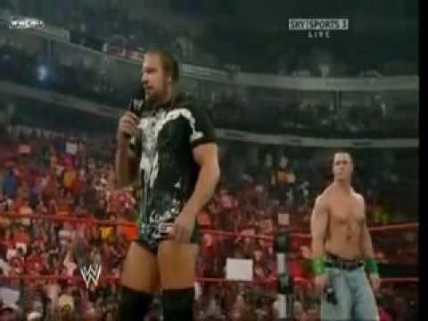 "John Cena Triple H and Randy Orton Promo ""Hobbit"""