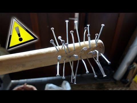 Welchen SCHADEN richtet ein selbstgebauter NAGEL BASEBALLSCHLÄGER an? - Experiment
