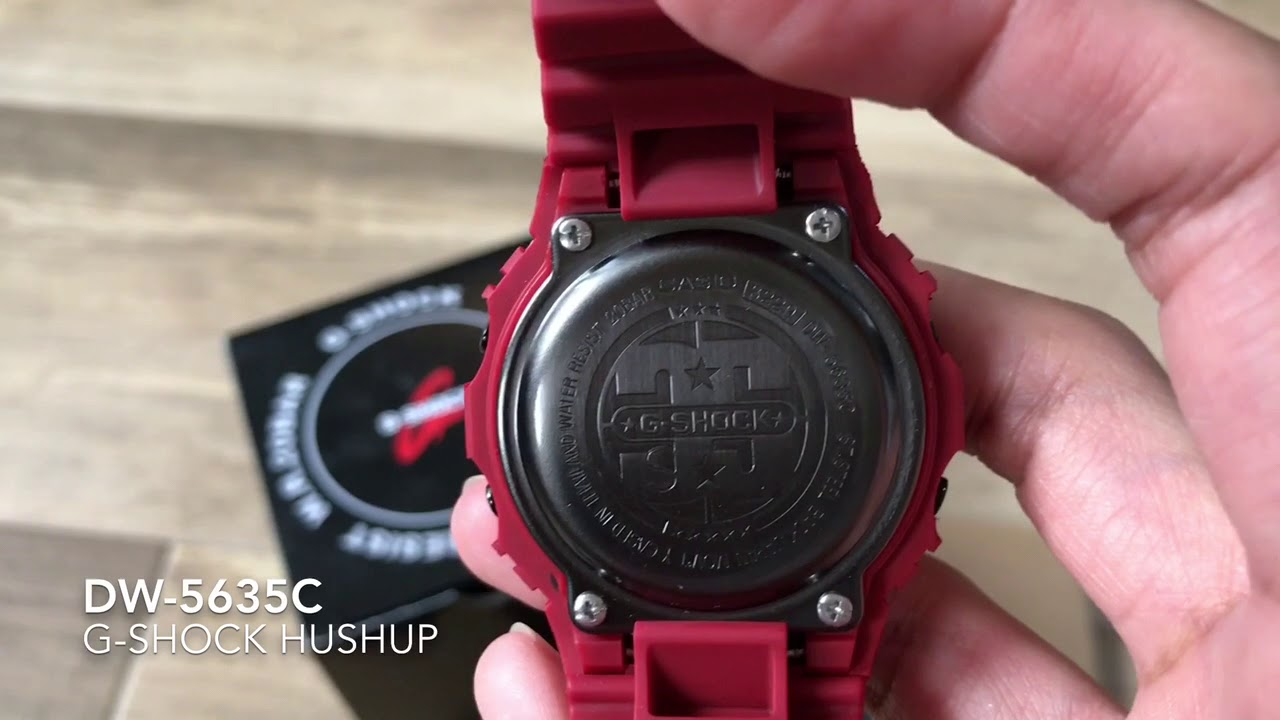 G Shock Dw 5600 Oem 35th Anniversary Red Out Series