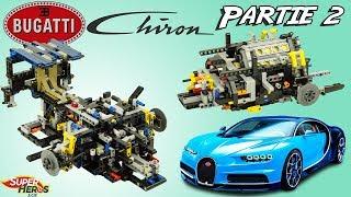 Construction Bugatti Chiron Lego 42083 Partie 2 Moteur et Train Avant Jouet Toy Review Speed Build