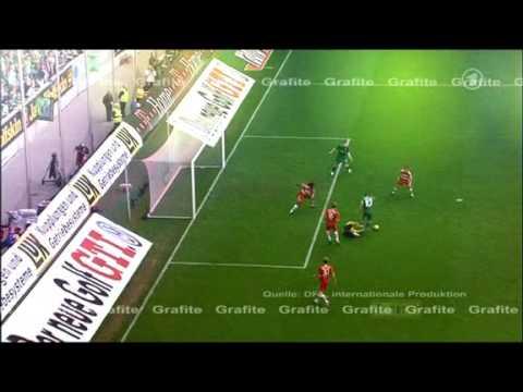 Grafite goal vs Bayern Munich (w/ English commentary)