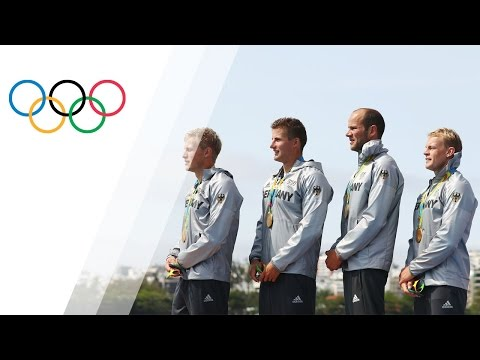 German team wins gold in Men's Kayak Four 1000m