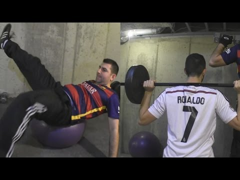 Cristiano Ronaldo vs. Messi -  Train At The Gym | In Real Life!
