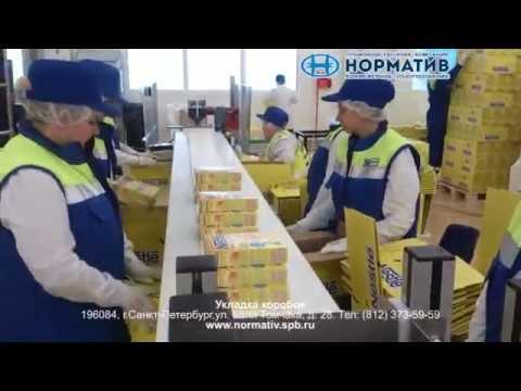 Система упаковки коробок - конвейер укладки продукции - ООО Норматив