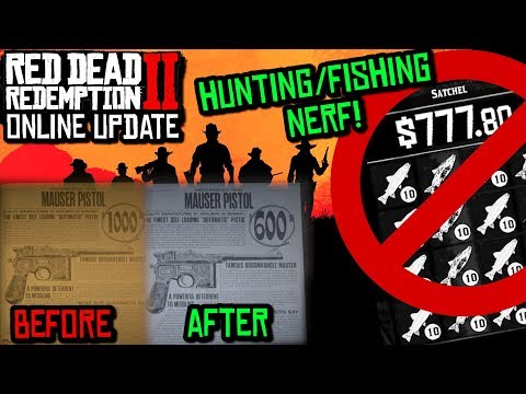 *NEW* BALANCED ECONOMY IS HERE! Hunting Nerfs, Cheaper Weapons, Free Gold! (Red Dead Online)
