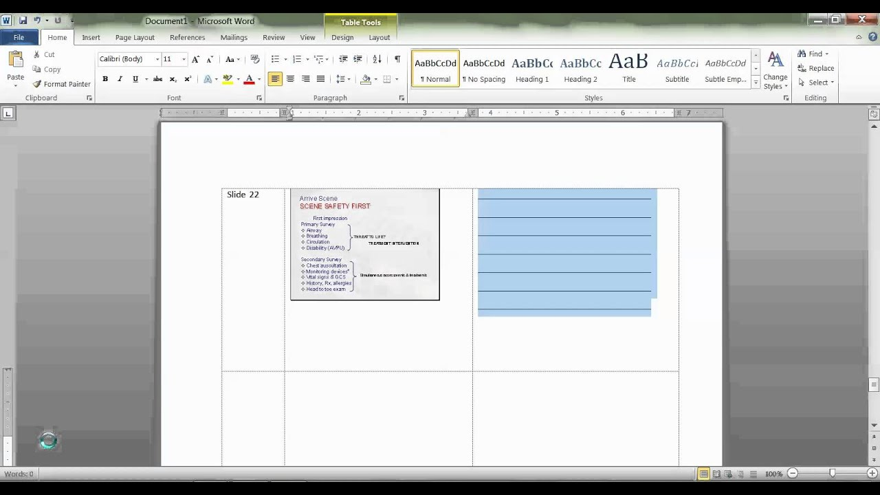 Convert PowerPoint slides PDF notes