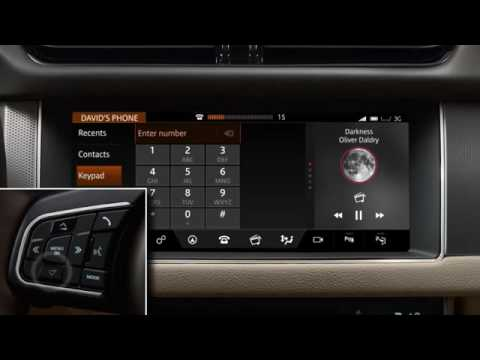 Jaguar XF InControl Touch Pro Phone Operation
