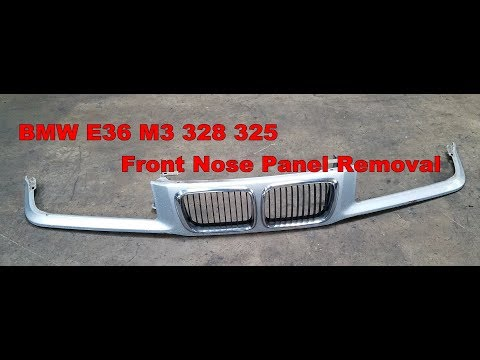 BMW E36 M3 328 325 Front Nose Panel Kidney Grille Removal 325 328