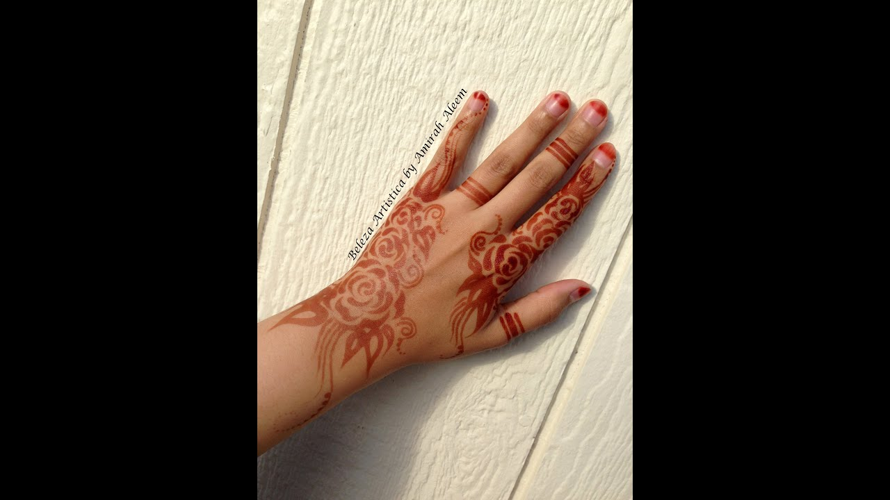 easy henna design khaleeji gulf style youtube