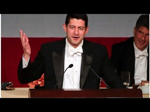 Paul ryan unleashes barrage of trump jokes at al smith dinner