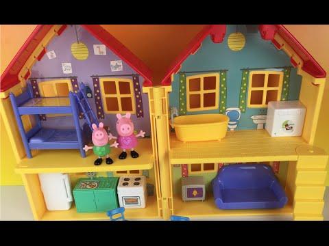 🐽 Peppa Pig's House Playset ❤ George Nickelodeon La Casa de Peppa by DisneyToyReview