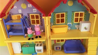 🐽 Peppa Pig's House Playset ❤ George Nickelodeon La Casa de Peppa by DisneyToyReview