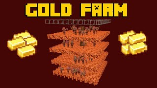 Gold Farm - Minecraft 1.16+ Tutorial (Java Edition)