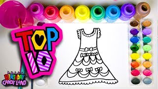 Top 10 Dress Drawing and Painting Videos of 2017 by BirthdayCandyLand Art 💜