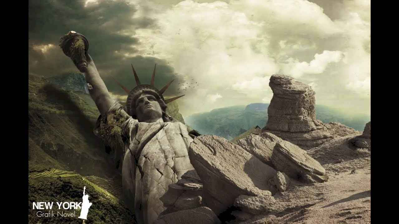 Speed Art Statue Of Liberty Photoshop Cs5 Youtube