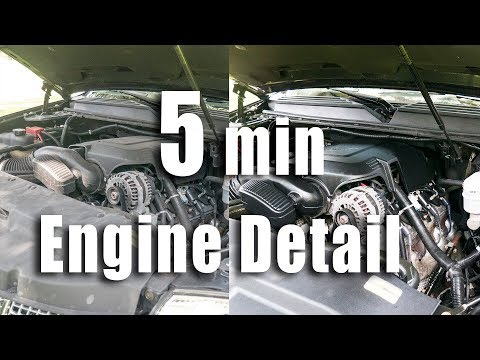How To Quick Engine Detail - Windex and ArmorAll