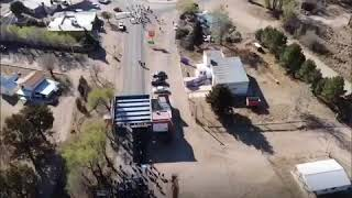 Video de los productores que cortan la ruta 30 en el ingreso a San Luis