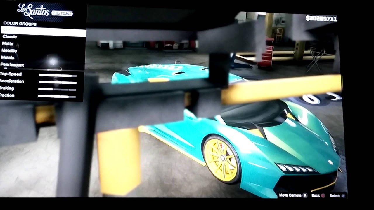GTA V Paint Jobs: Atlantis, Lava Red, Tron, - YouTube