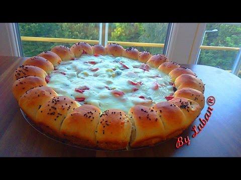 صورة  طريقة عمل البيتزا بيتزا محشية الحواف مع أسرار نجاح البيتزا وطريقة زياده كمية الجبنة American Pizza طريقة عمل البيتزا من يوتيوب