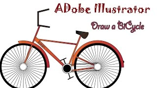 Draw a bicycle using basic shapes in Adobe illustrator