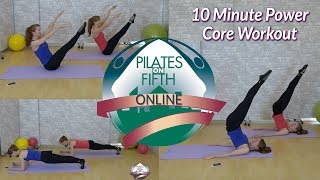 10 Minute Power Core Pilates Workout