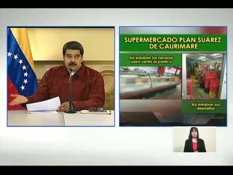 Maduro sobre supermercados Plan Suárez: Quien viole precios acordados, ¡mandaremos al Sebin!
