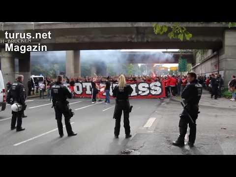 Rot-Weiss Essen Fans In Oberhausen September 2019