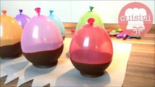 Schokoschalen mit Ballons selber machen | Hack | How To Make Chocolate Balloon Bowls - CUISINI