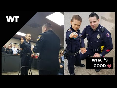 6-Year Old Battling Cancer Achieves DREAM of Becoming Police Officer