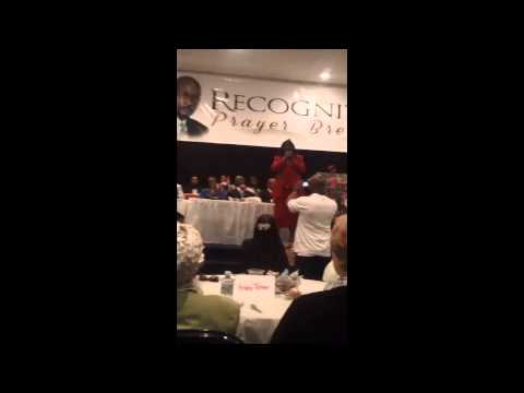 Geraldine Hughes sings Your The Best Thing @ Community Day Prayer Breakfast 2014