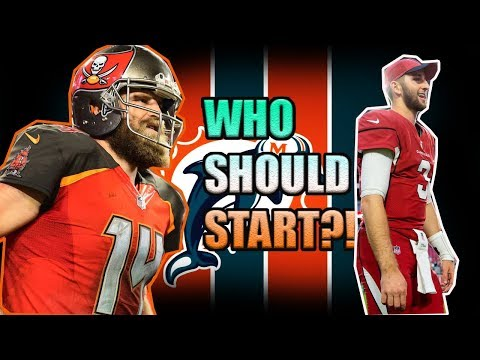 SHOULD JOSH ROSEN OR RYAN FITZPATRICK START FOR THE MIAMI DOLPHINS?! @1KFLeXin  | Miami Dolphins Fan
